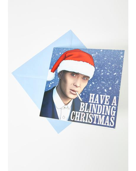 Have A Blindin' Christmas Holiday Card
