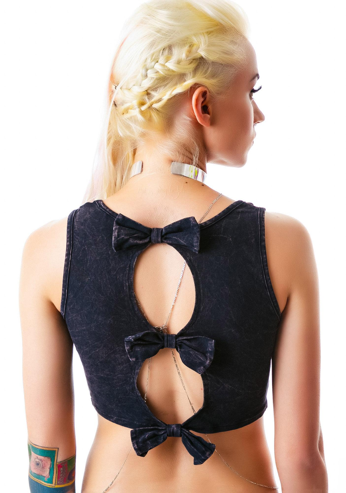 Bow Peeping Open Back Top