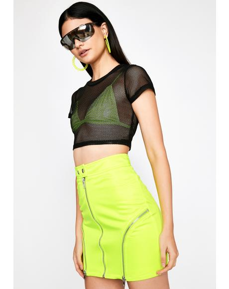 Blinding Attraction Moto Skirt