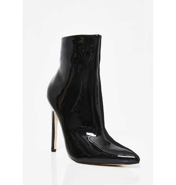 Public Desire Yuri Contrast Stiletto Heel Ankle Boots