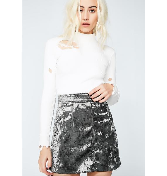 No Lies Velvet Mini Skirt