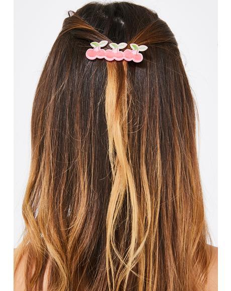 Buy Me Cherries Hair Clip