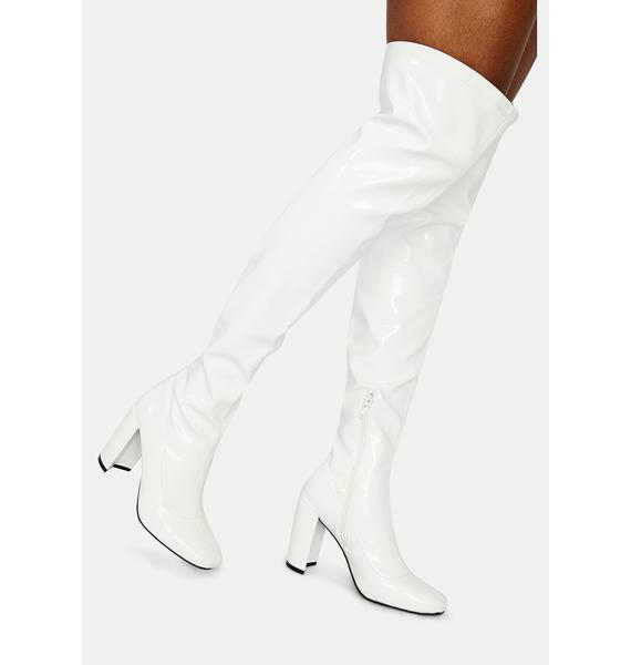 Pure Looks Could Kill Patent Thigh High Boots