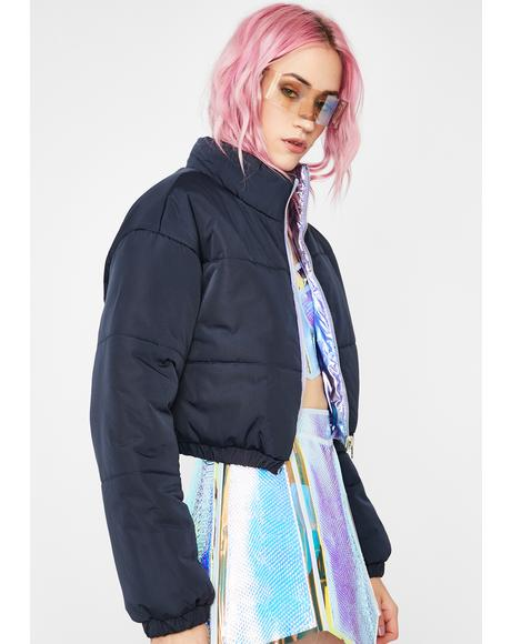 Hazy Sunset To Sunrise Reversible Puffer Jacket