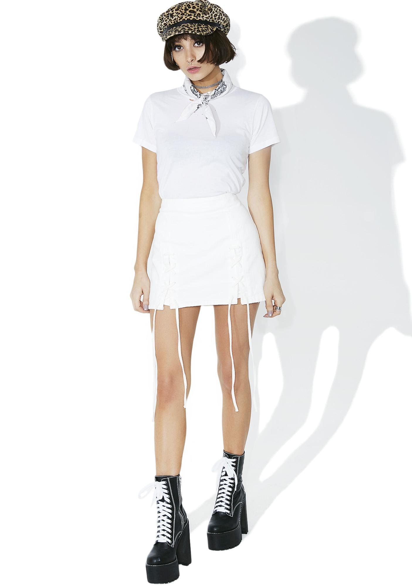 Angelic I Want Action Lace-Up Skirt