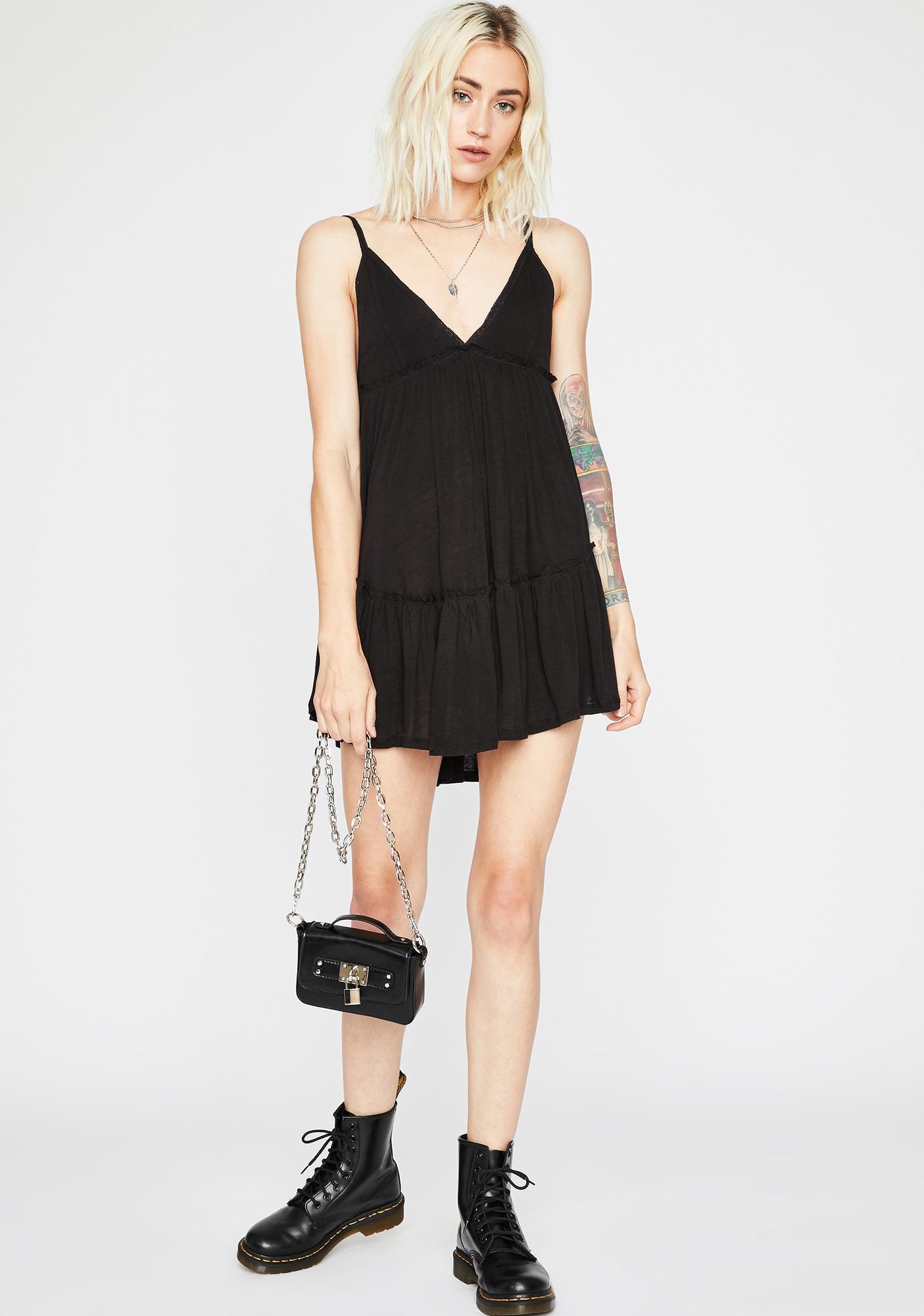Midnight Top Tier Mini Dress