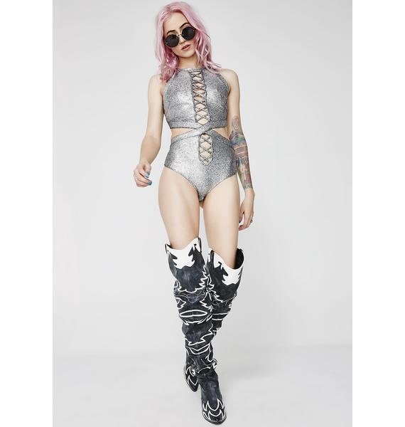 Galactic Empress Metallic Bodysuit