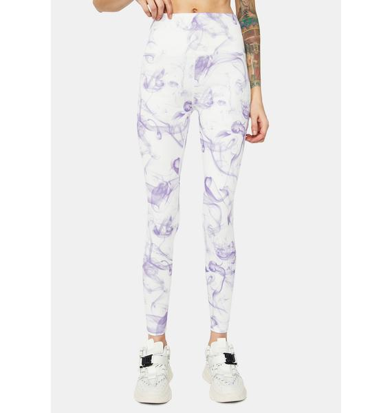 Grind Don't Stop Smoke Print Sport Leggings