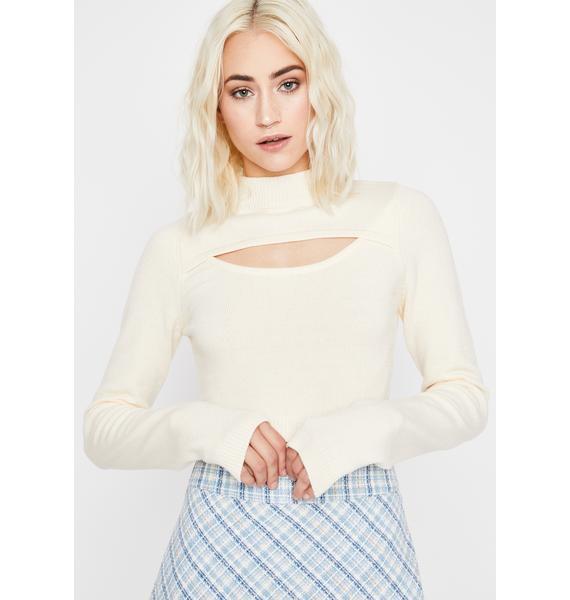 Angel Ur Bashful Bae Cut Out Sweater