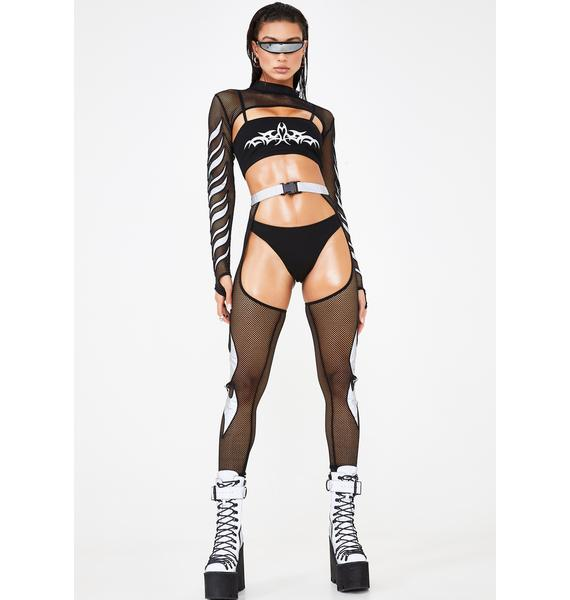 Club Exx Mark Of The Beast Reflective Chaps
