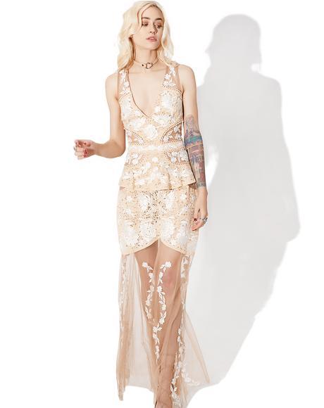 Mallorca Embroidery Maxi Dress