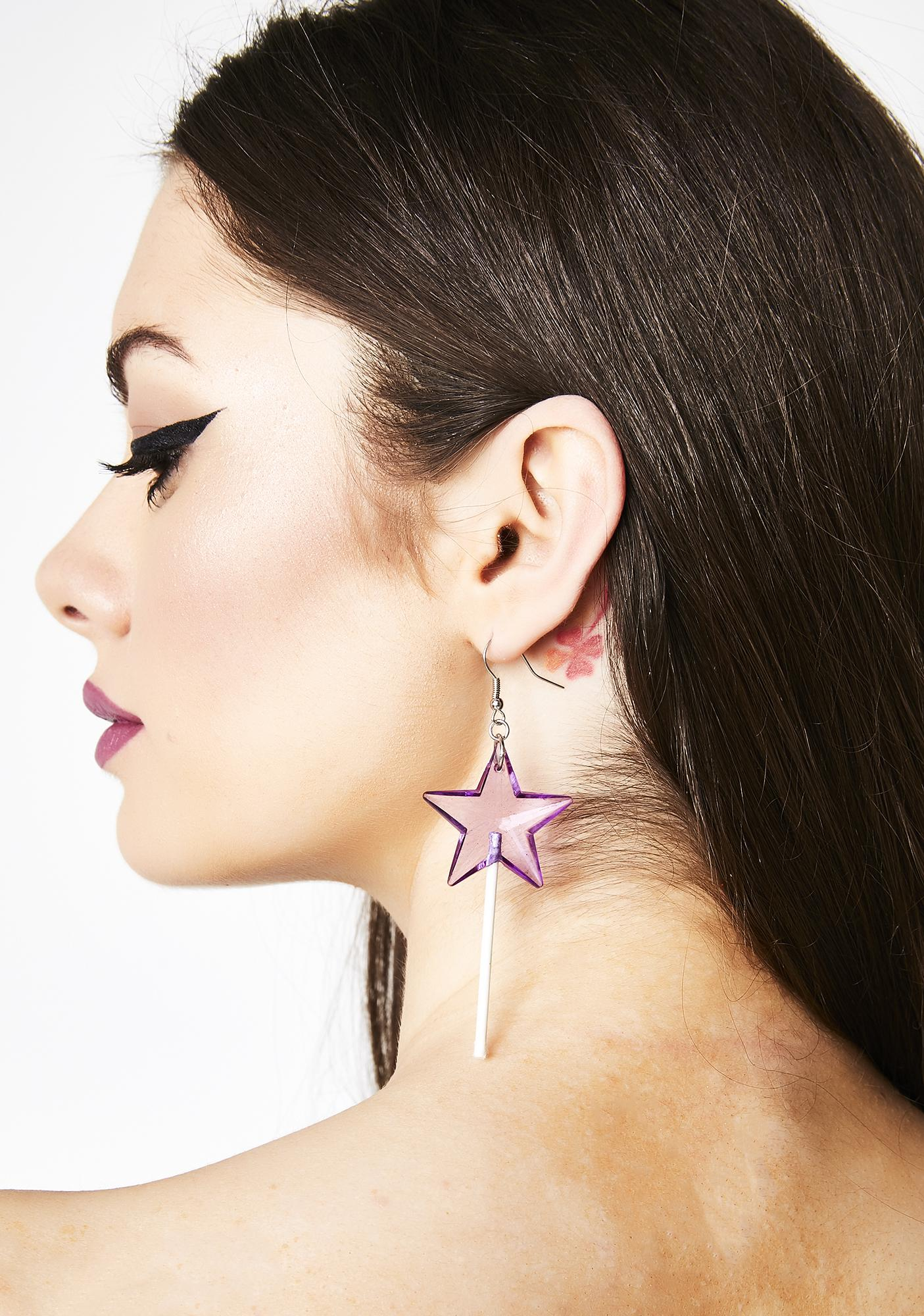 Sugar Star Lollipop Earrings
