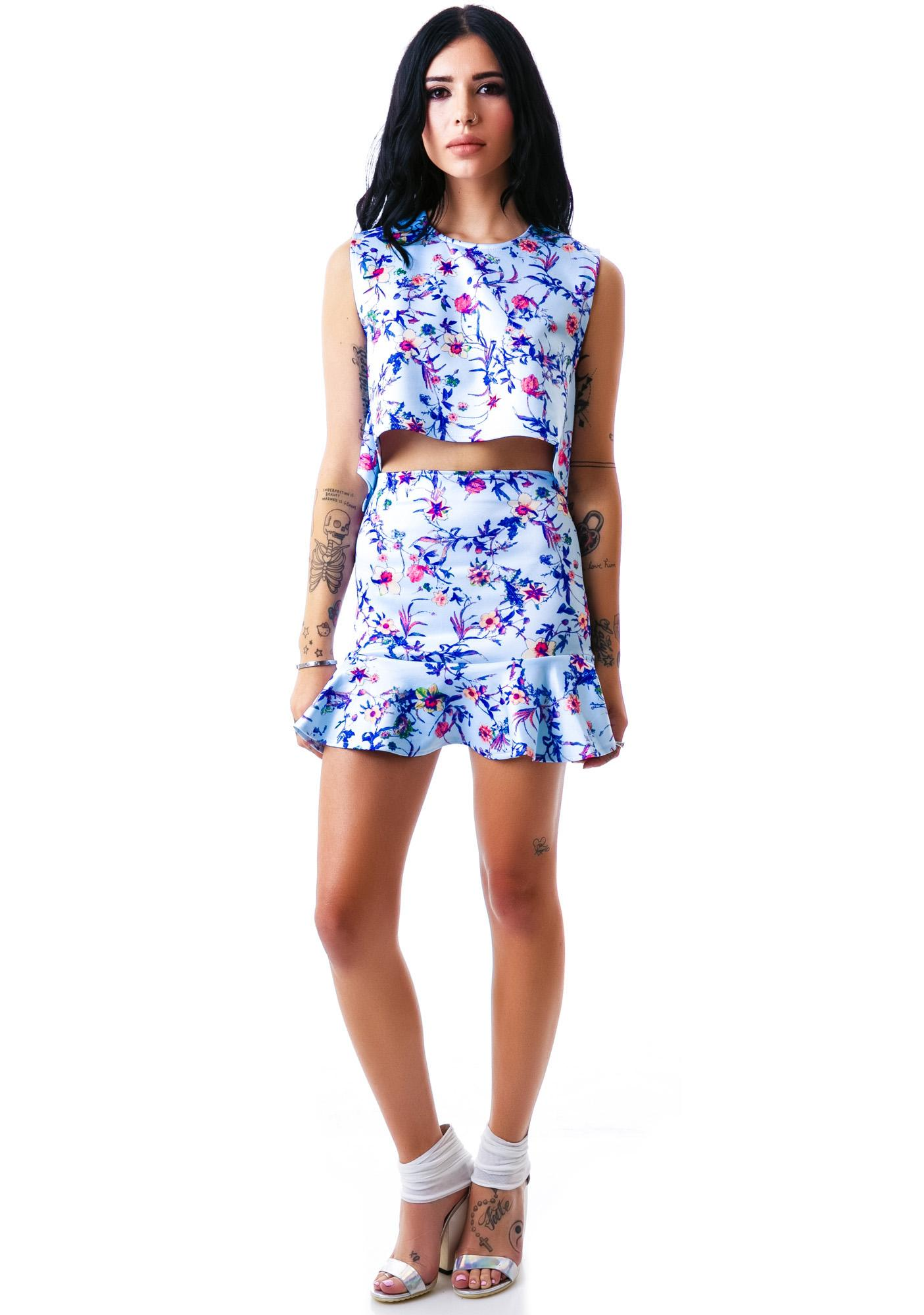 Fresh Florals Scuba Top