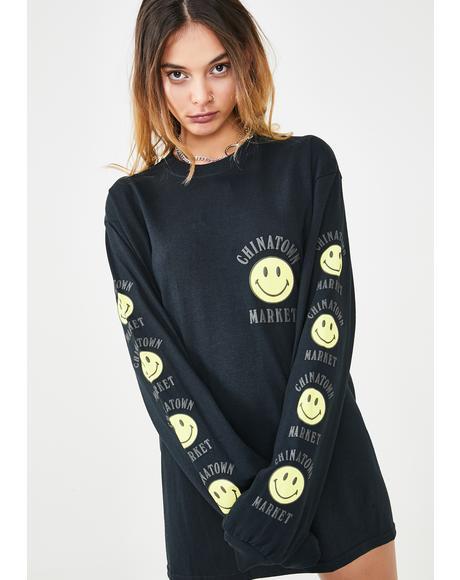 Smiley Logo Long Sleeve T-Shirt