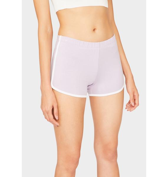 Lavender Game Point Dolphin Shorts