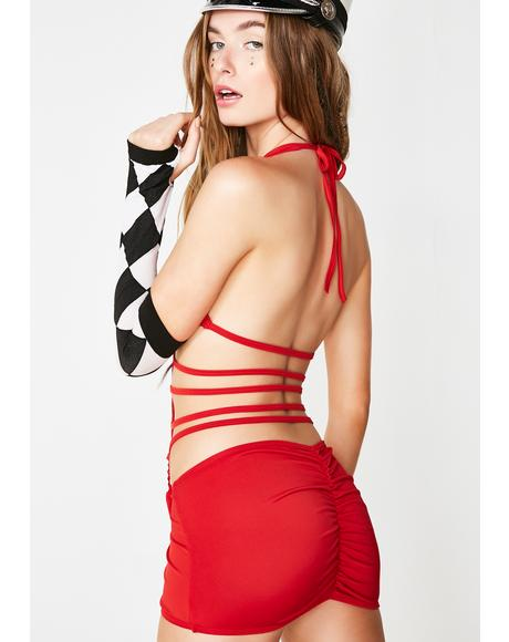 Man Eater Strappy Mini Dress