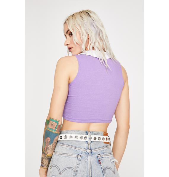Lilac Professional Cool Chick Crop Polo