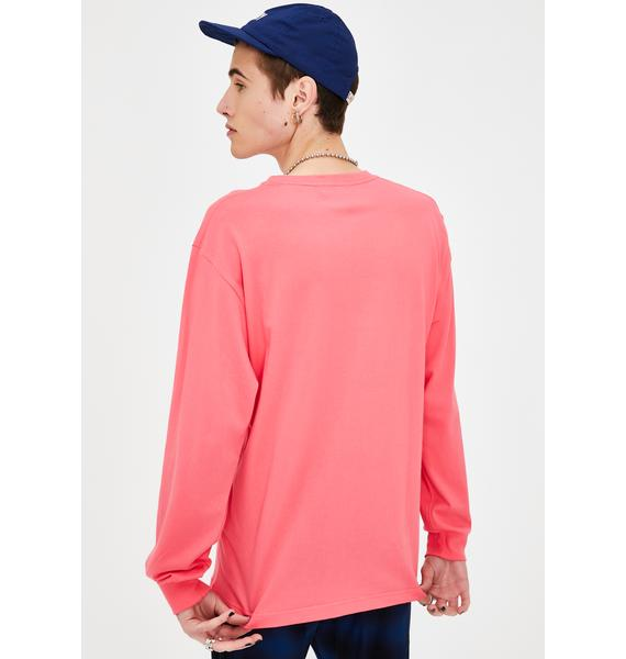 XLARGE Pink Flower Long Sleeve Graphic Tee