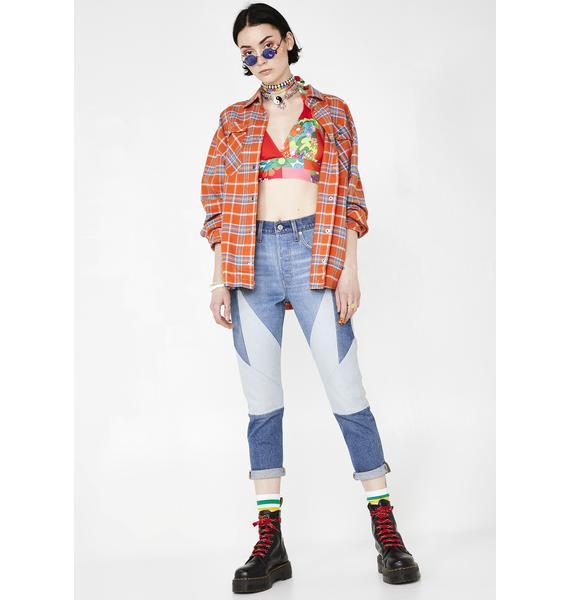 Levis Twice As Nice 501 Skinny Jeans