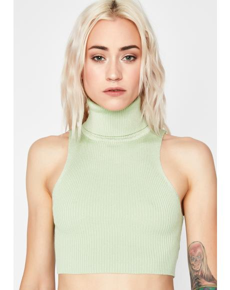 Melon Poetry Slam Sleeveless Turtleneck