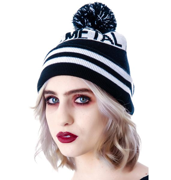 Abandon Ship Apparel Heavy Fucking Metal Bobble Beanie