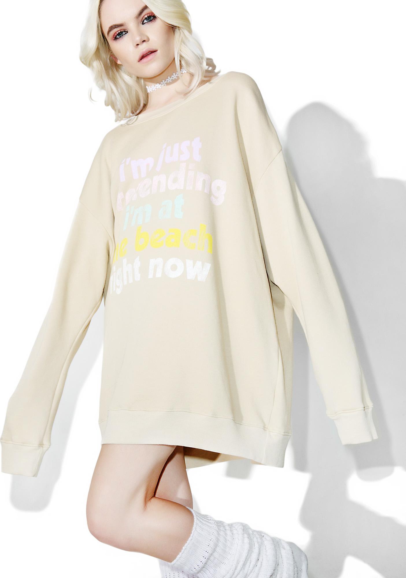 Wildfox Couture Play Pretend Roadtrip Sweater