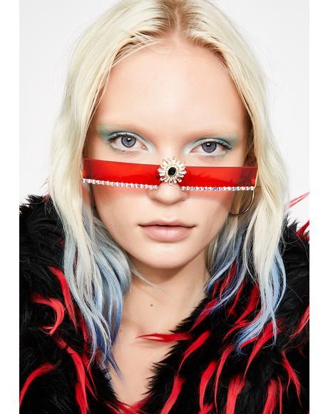 Ruby Shining Aura Rhinestone Sunglasses