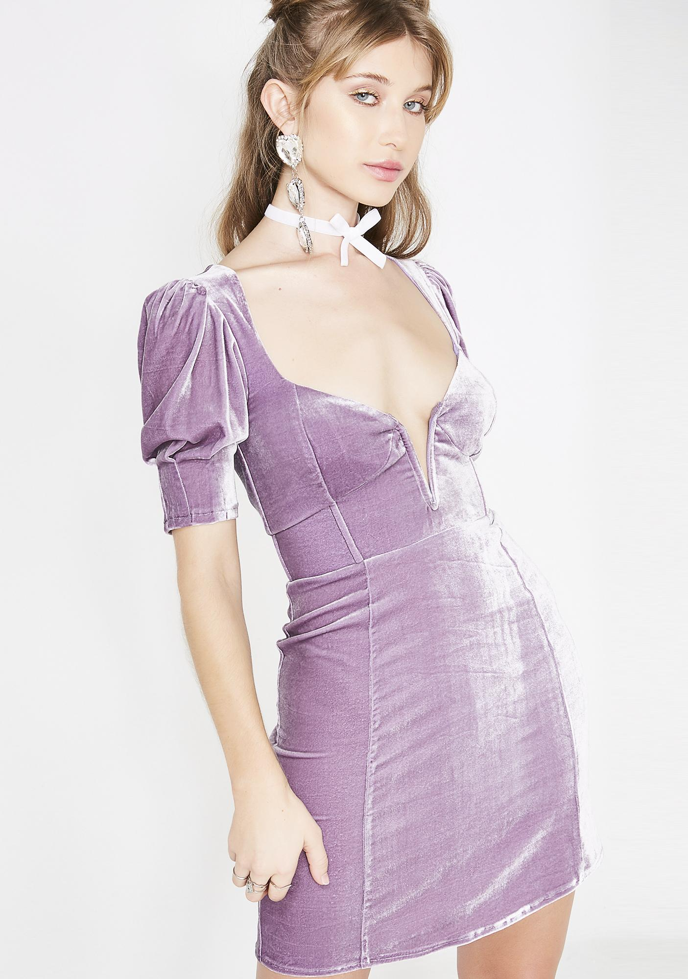 fa316af0f9b ... For Love   Lemons Lilac Viva Deep V Mini Dress ...
