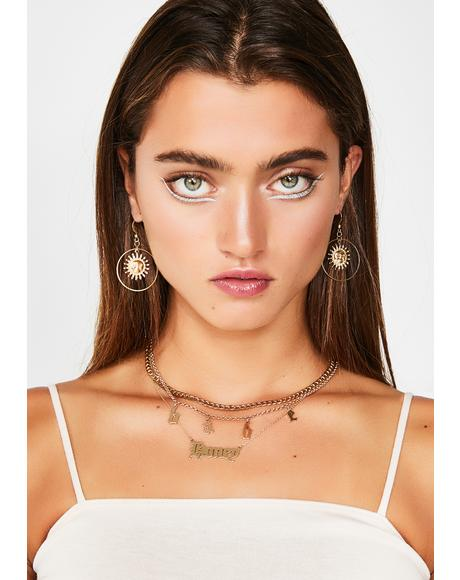 Sunshine Luv Hoop Earrings