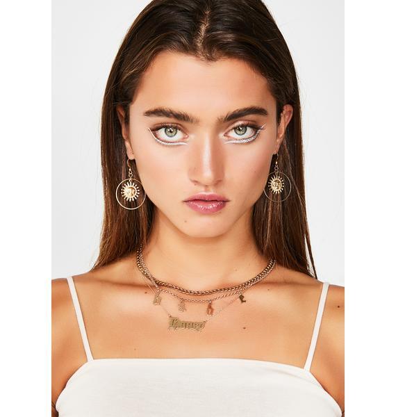 Sunshine Luv Hoop Earrings