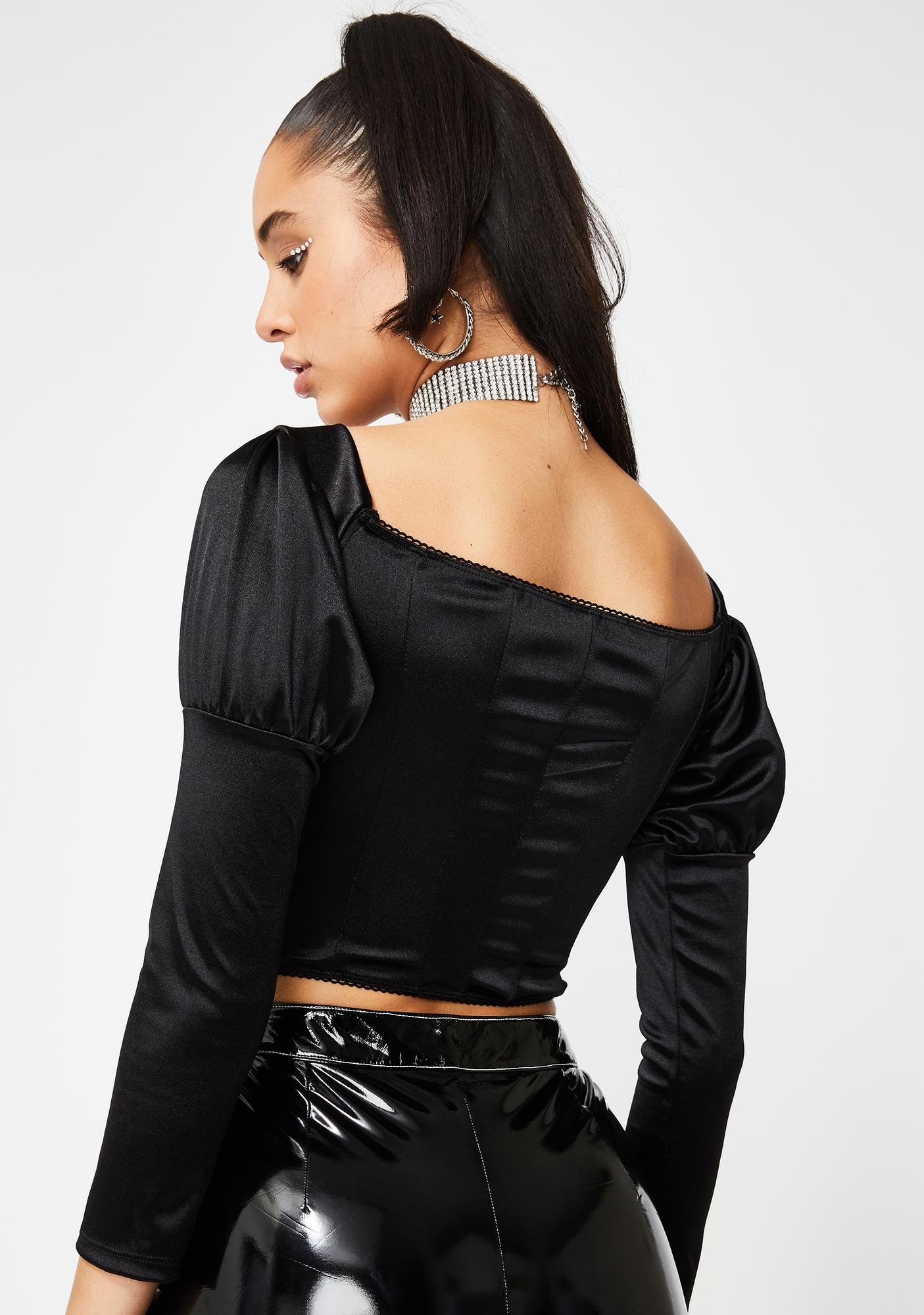 Poster Grl Texts On Read Corset Top
