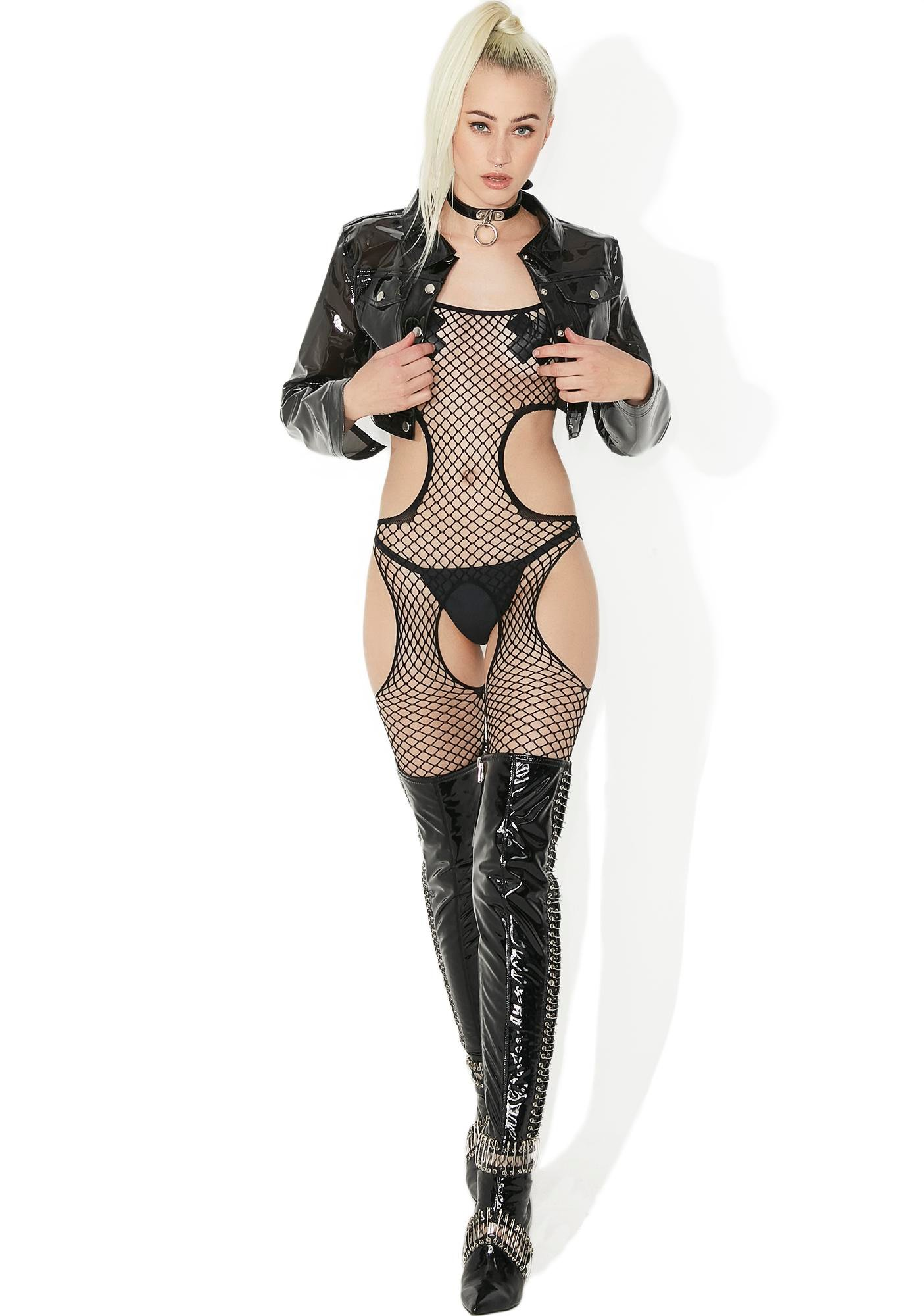 Peepshow Pretty Cut-Out Bodystocking