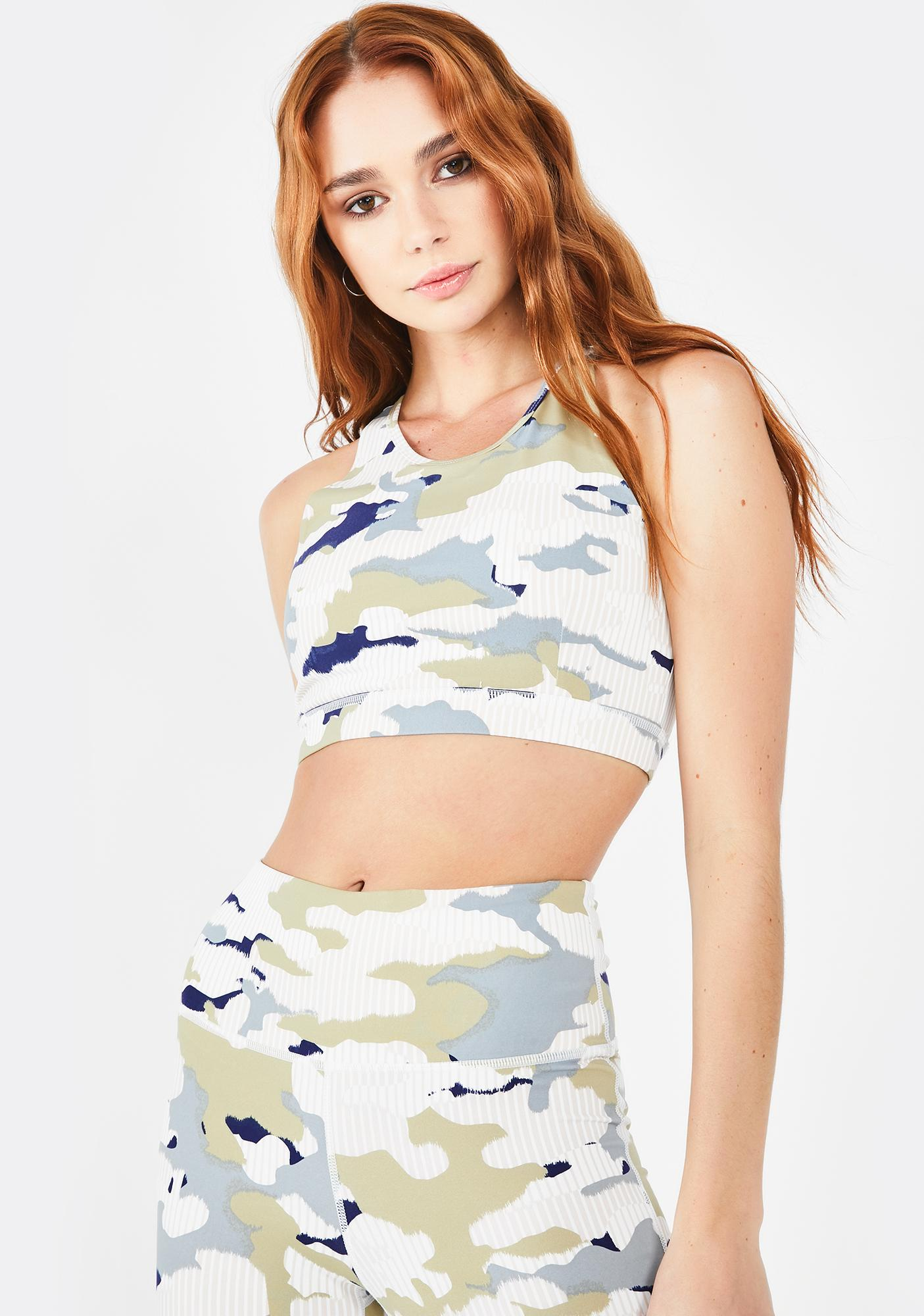 Sweetheart In Disguise Camo Sports Bra