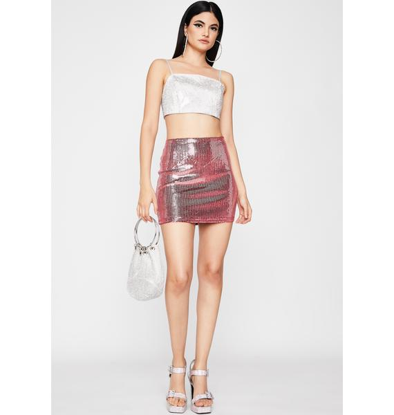 I Got That Bubbly Sequin Skirt