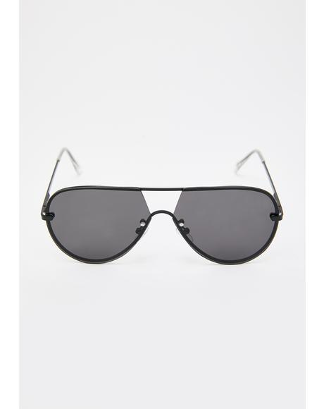 Message Me Aviator Sunglasses