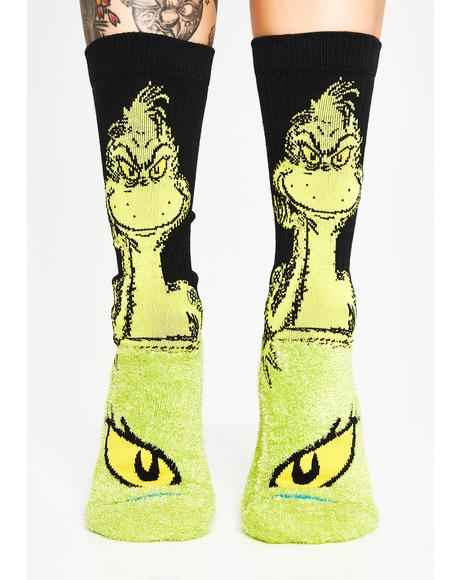 The Grinch Crew Socks