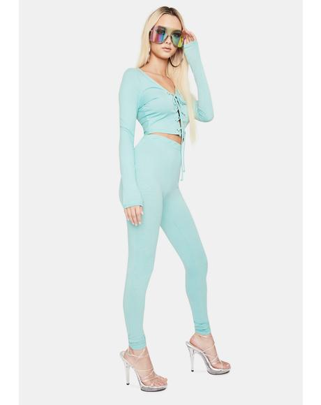 Can't Compete Lace Up Pants Set