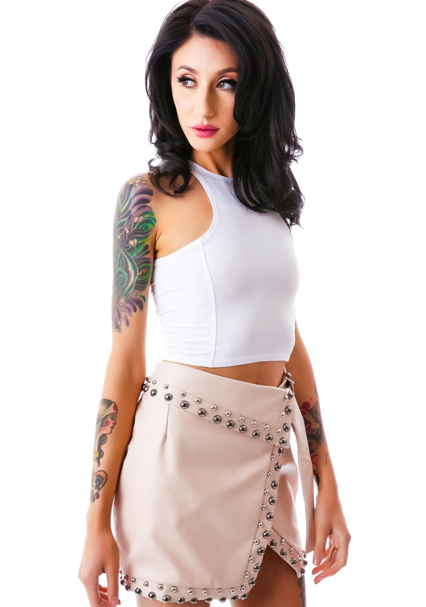 Reckless Runaway Studded Skirt