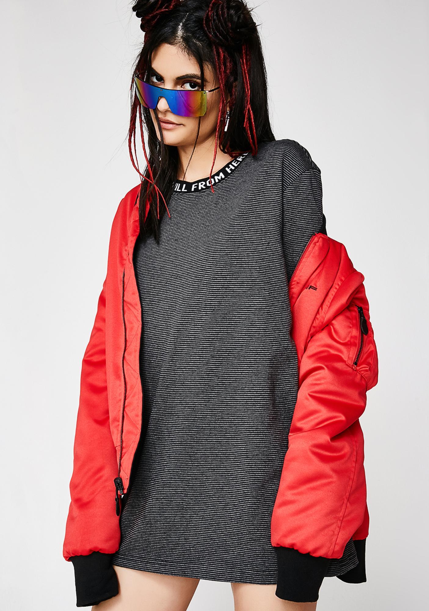 HUF Downhill Long Sleeve Stripe Shirt