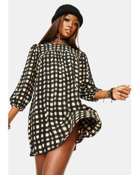 Isha Check Mini Dress