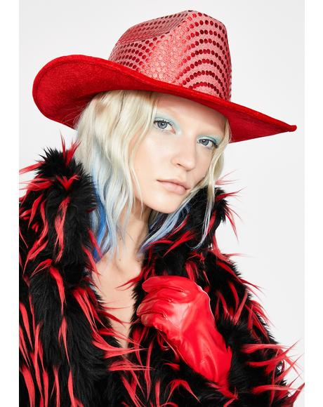Red Space Cowboy hat