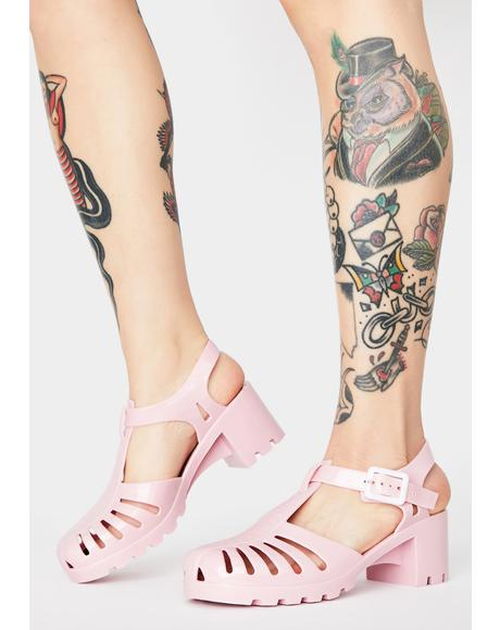 Cotton Candy Total Transparency Jelly Shoes