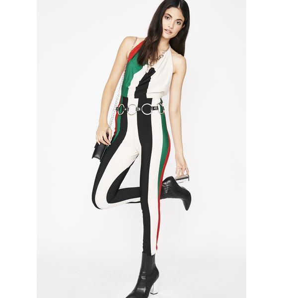 Boujee Baddie Striped Jumpsuit