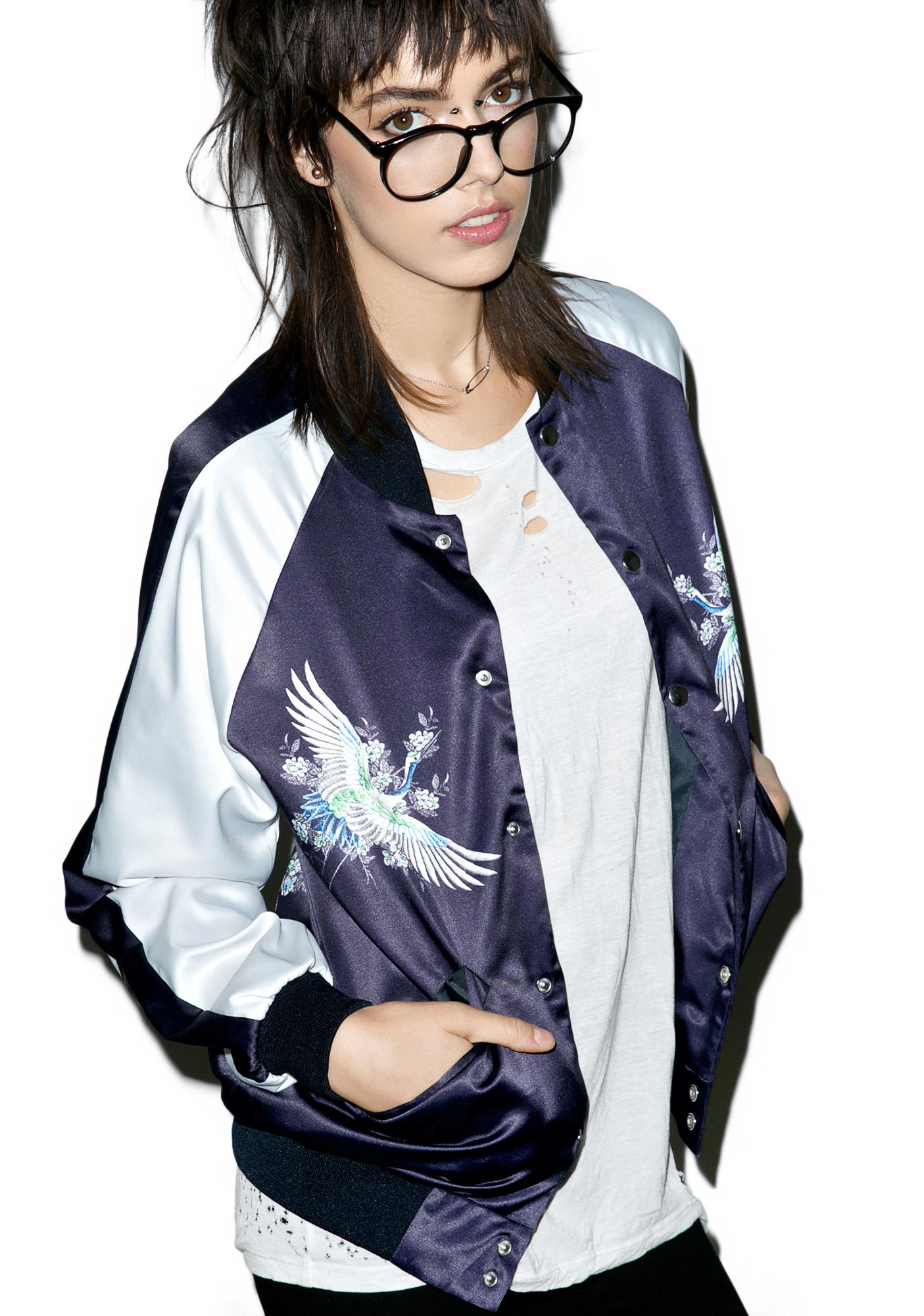 Jaded London Crane Souvenir Bomber Jacket