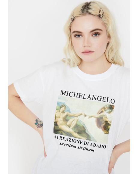 Michelangelo Oversized Tee