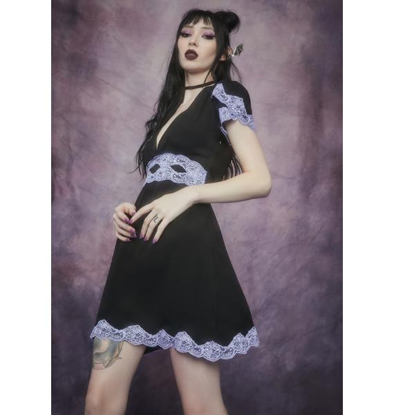 Widow Lilac Bloody Valentine A-Line Dress