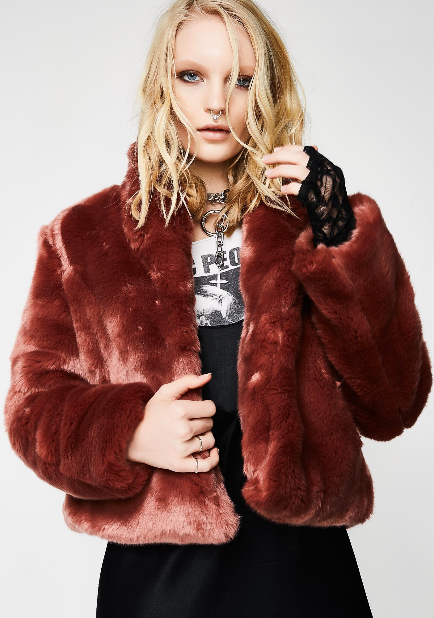 Obey Lana Fur Coat