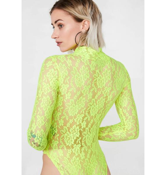 Local Heroes Neon Lace Bodysuit