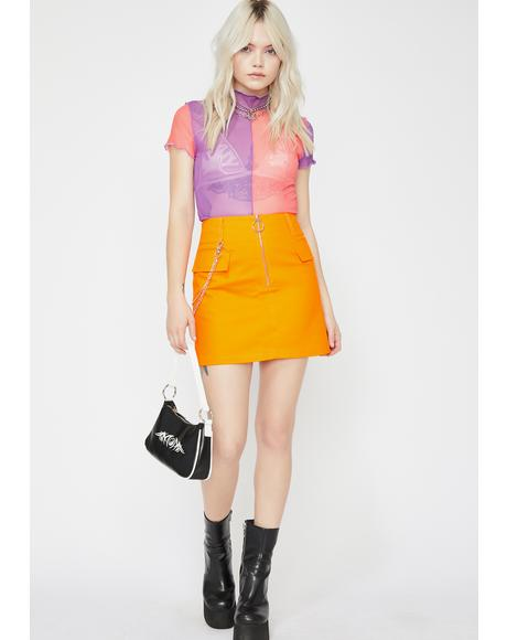 Juicy Trust Fund Mini Skirt