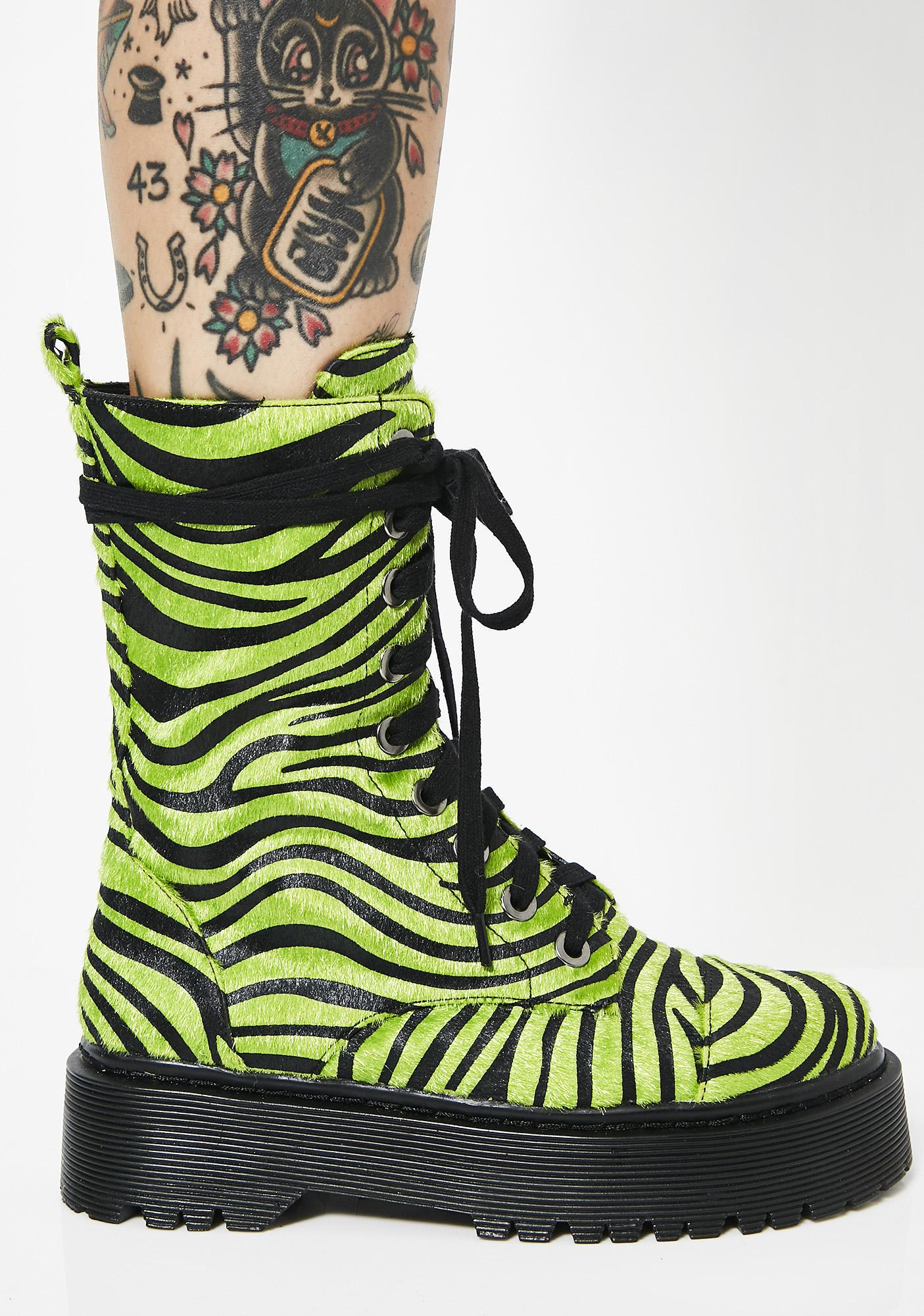 Current Mood Wild At Heart Zebra Boots